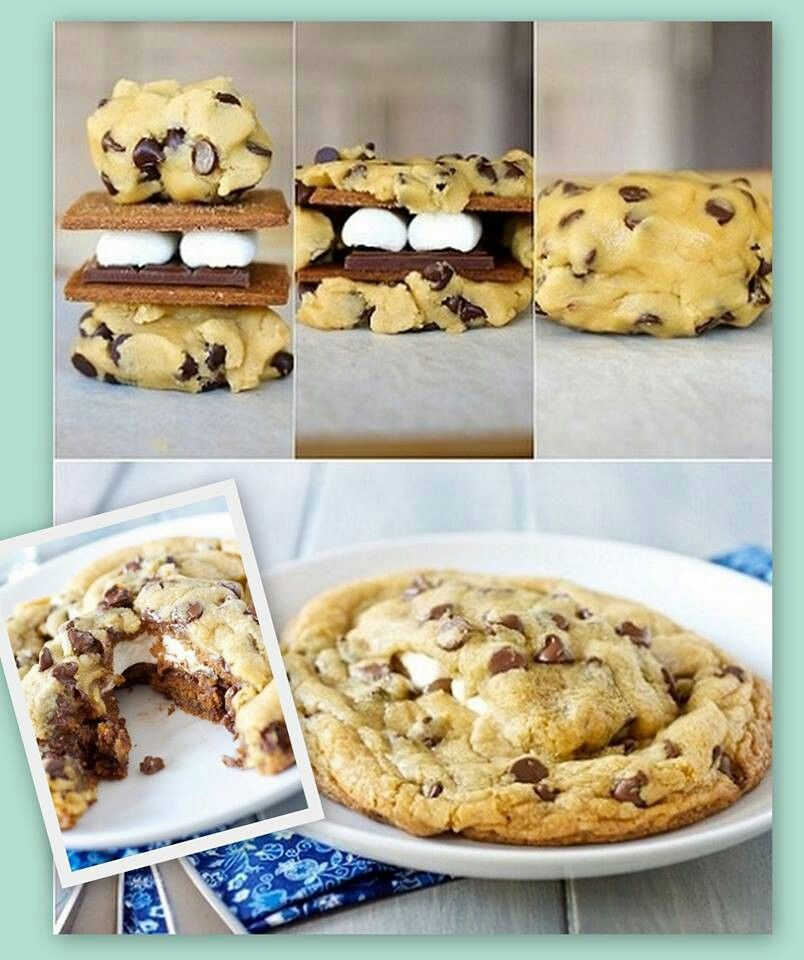 mores stuffed chocolate chip cookies | Nomnomnomnomnom | Pinterest