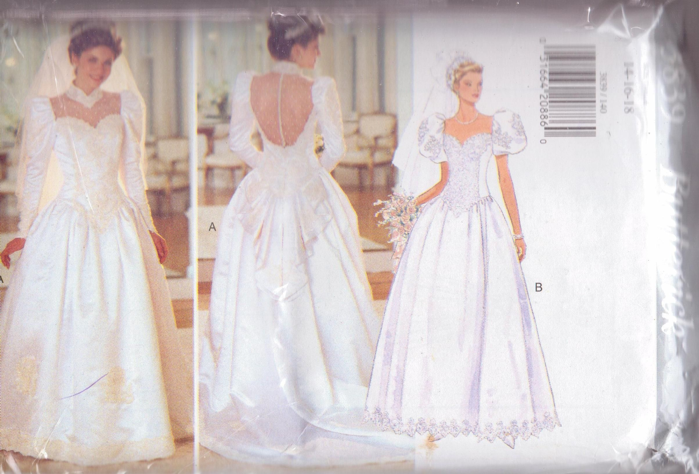 Butterick 3839 1995 bridal gown
