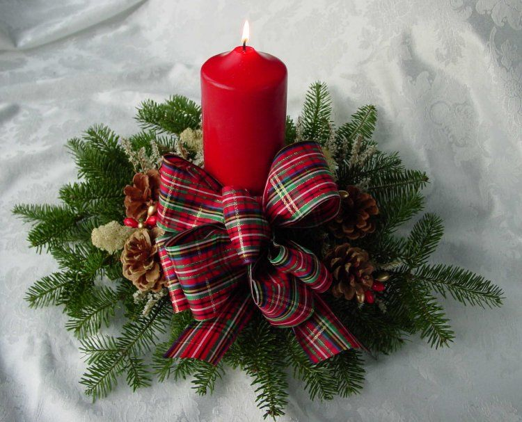 Candle Christmas Centerpieces Pinterest