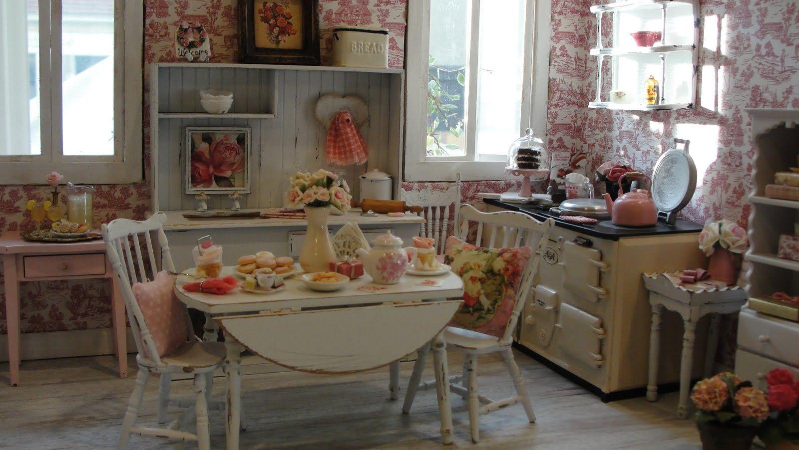 Miniature shabby chic kitchen scene for blythe pinterest - Kitchen chic ...
