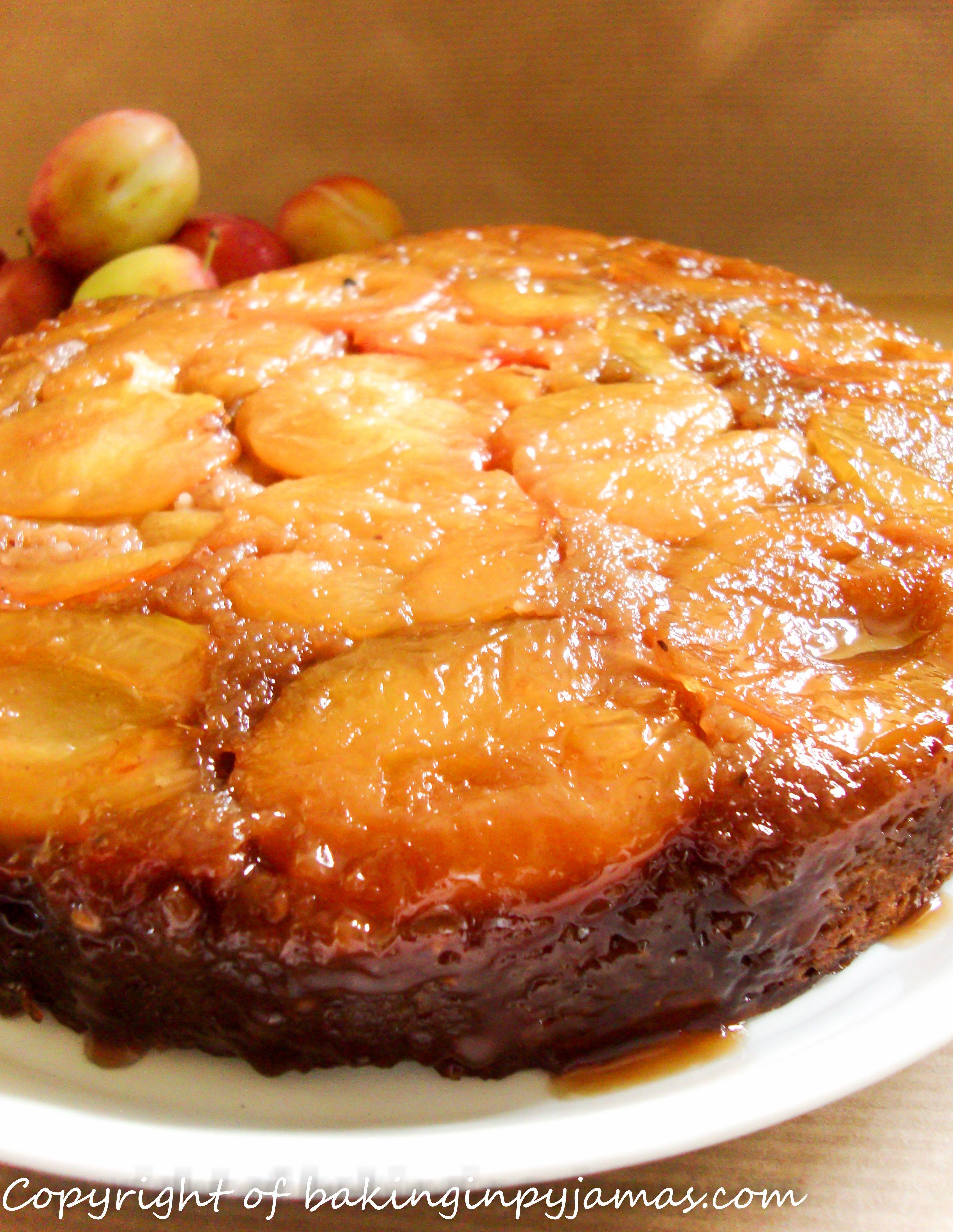 Plum and Hazelnut Upside Down Cake | Fruit Based Cakes@baking in pyja ...