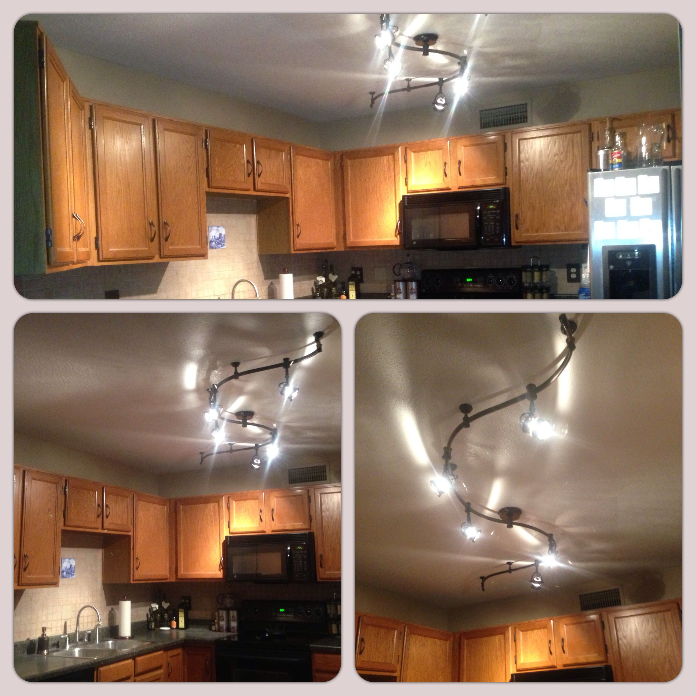 Track lighting in the kitchen Cabin ideas