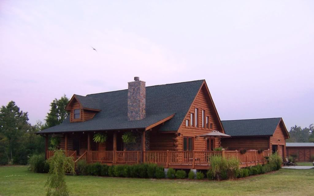 Simple Log House Wrap Around Porch Home Is Where The