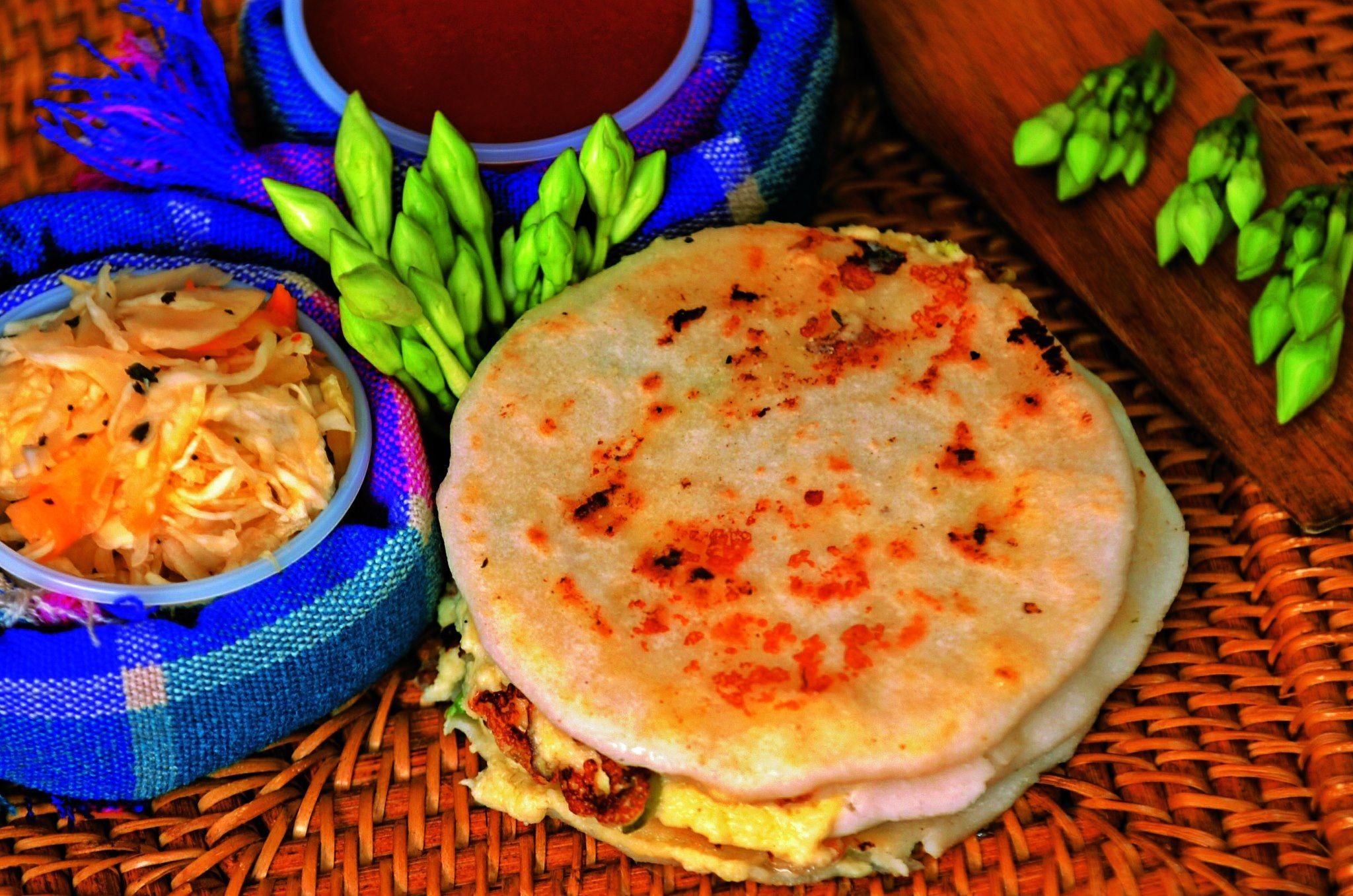 Salvadoran Pupusas Con Curtido (Masa Cakes With Cabbage ...