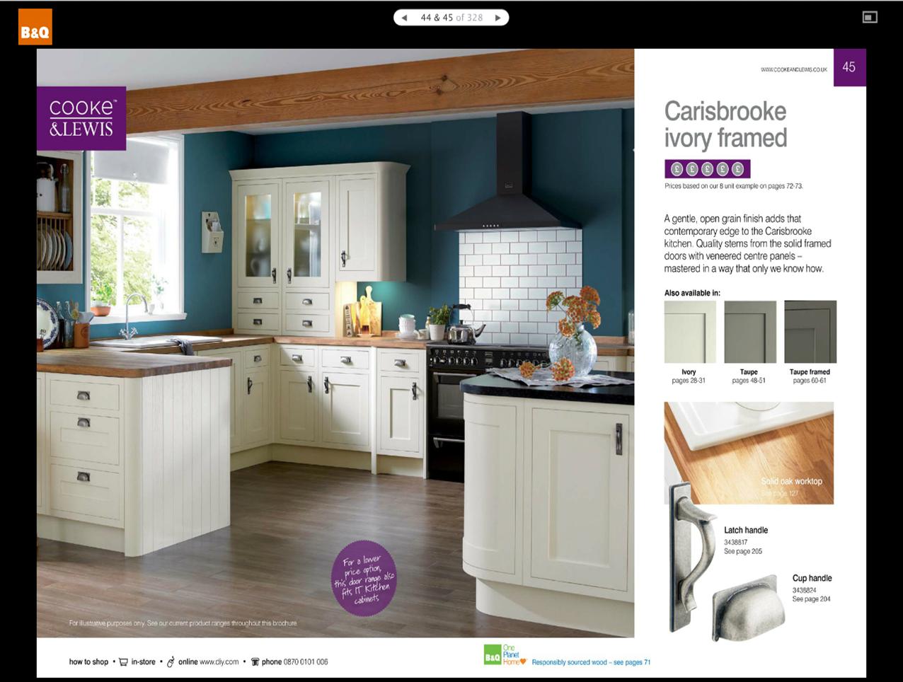 Carisbrooke Ivory Framed kitchen  B  Kitchen ideas  Pinterest