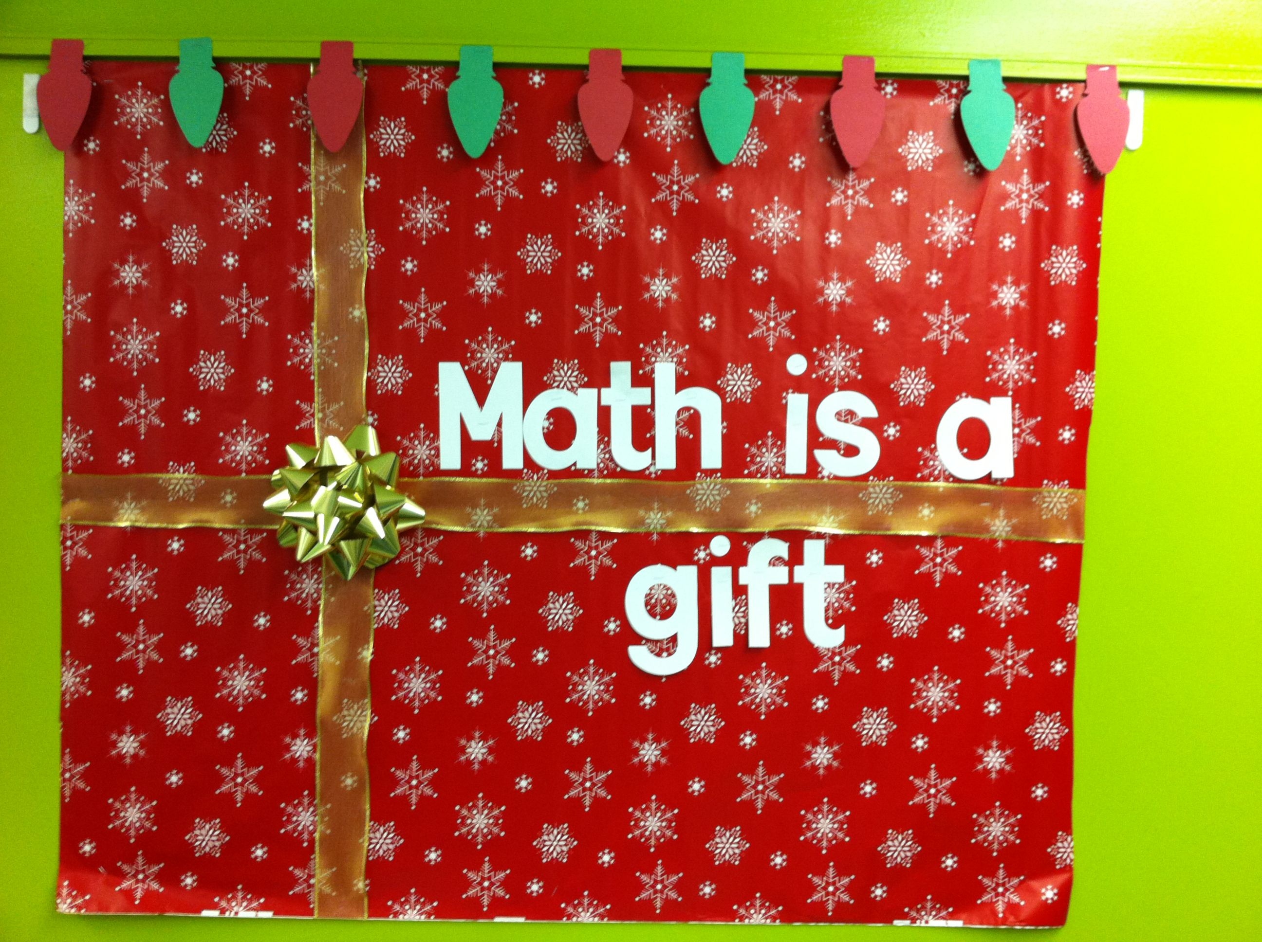 Math bulletin board winter amp christmas bulletin boards