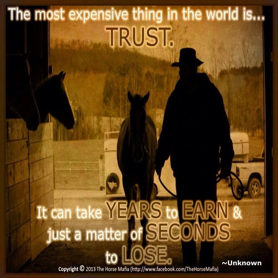 How to earn trust back