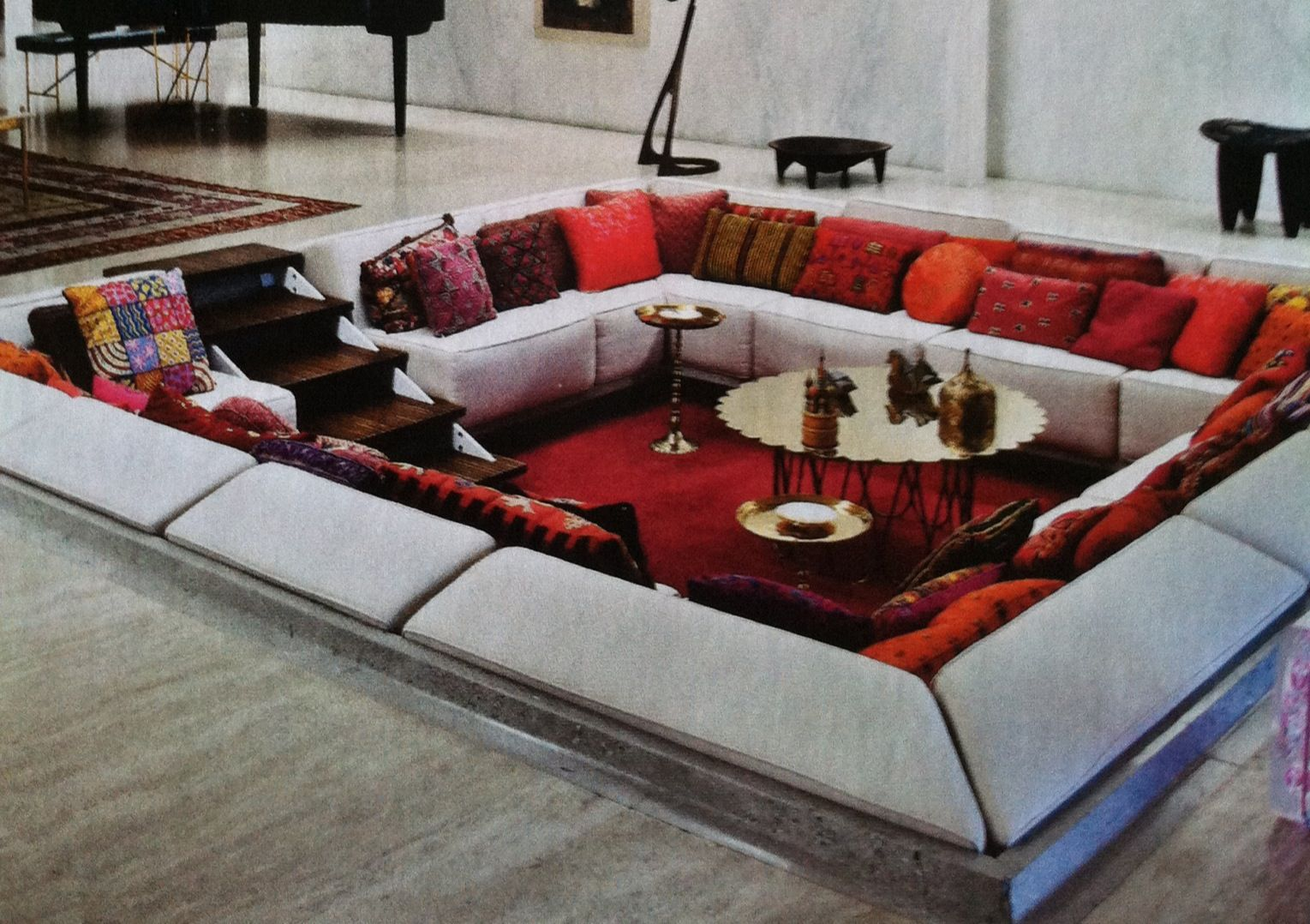 conversation pit interior decorating pinterest