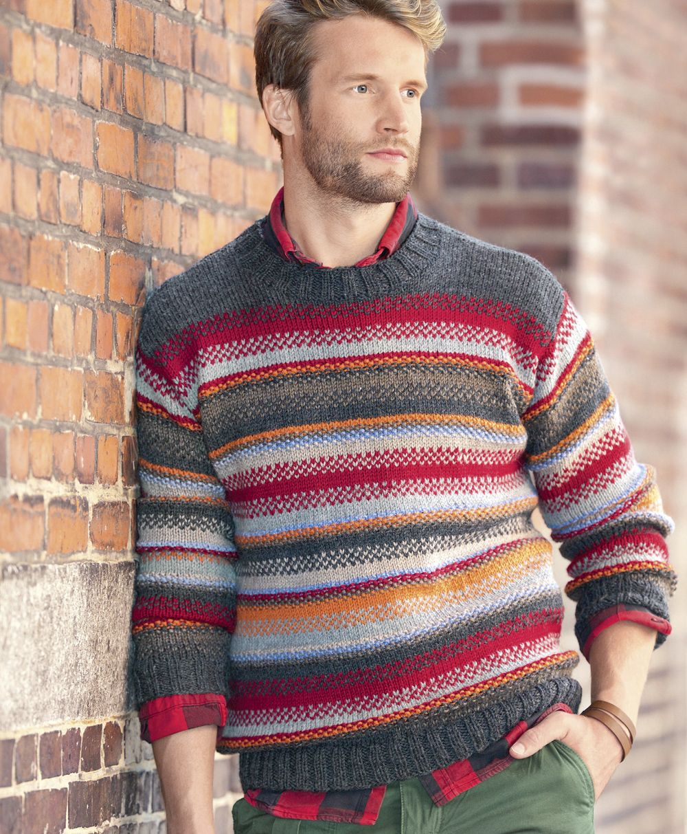 Джемпер. вязание для мужчин 334