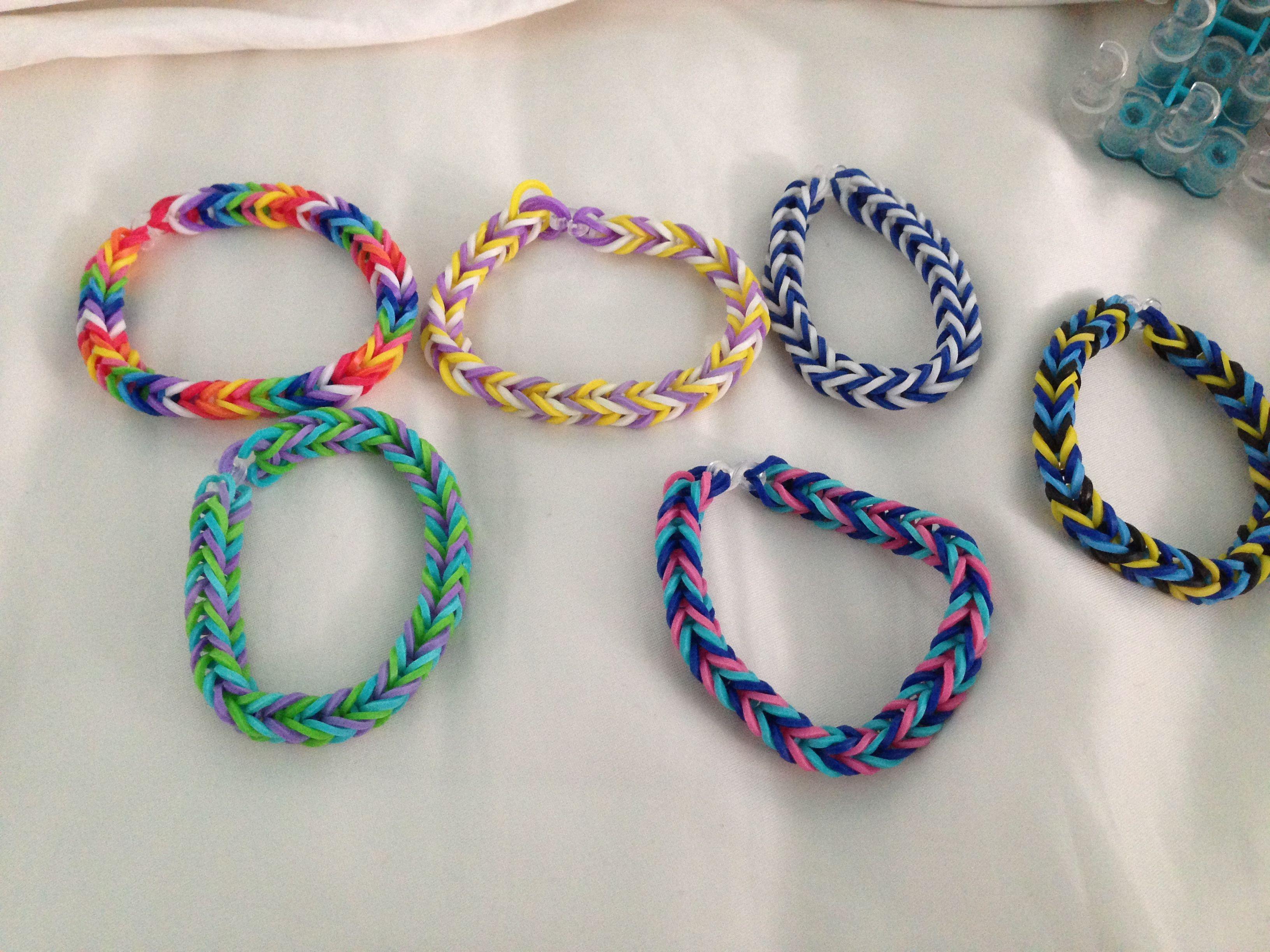 fishtail rubber band bracelets emilys pinterest