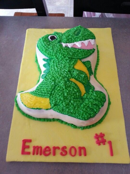 Boy birthday cake dinosaur food and drinks pinterest