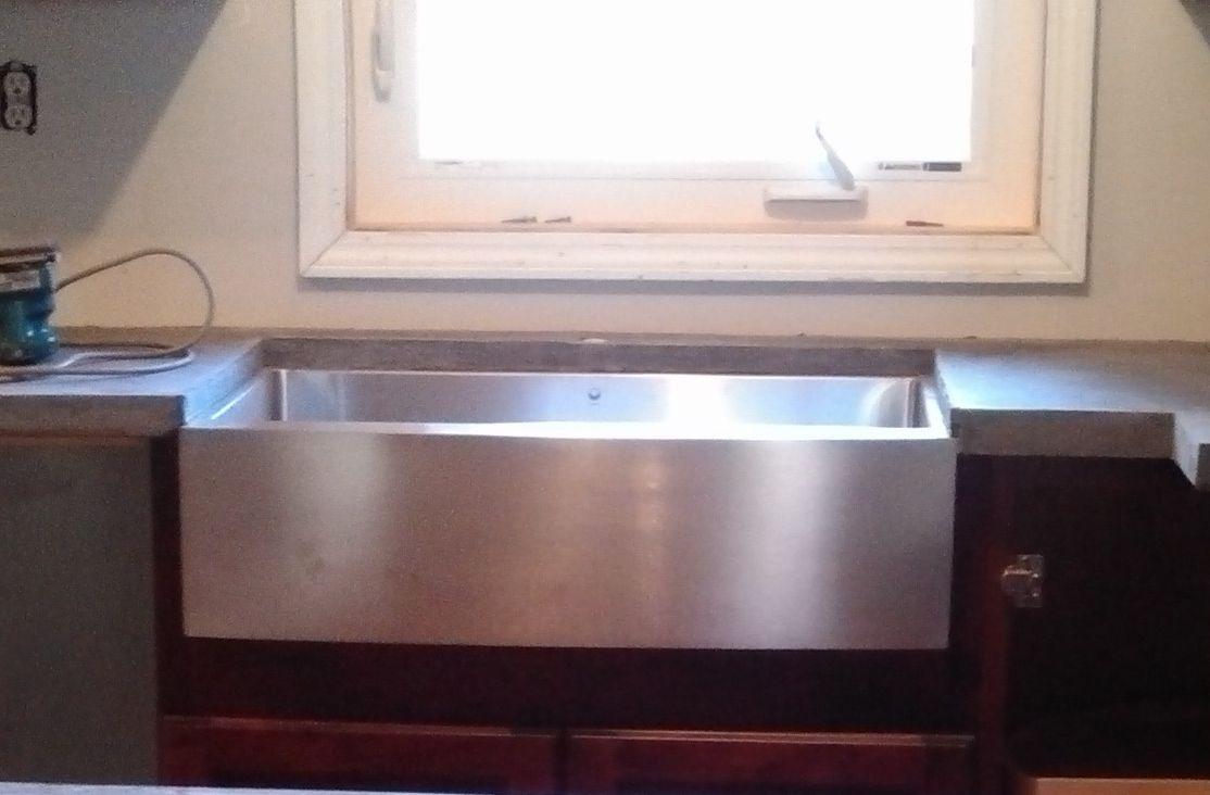 Stainless Steel Garage Sink : Stainless steel apron sink by Vigo Garage apartment Pinterest