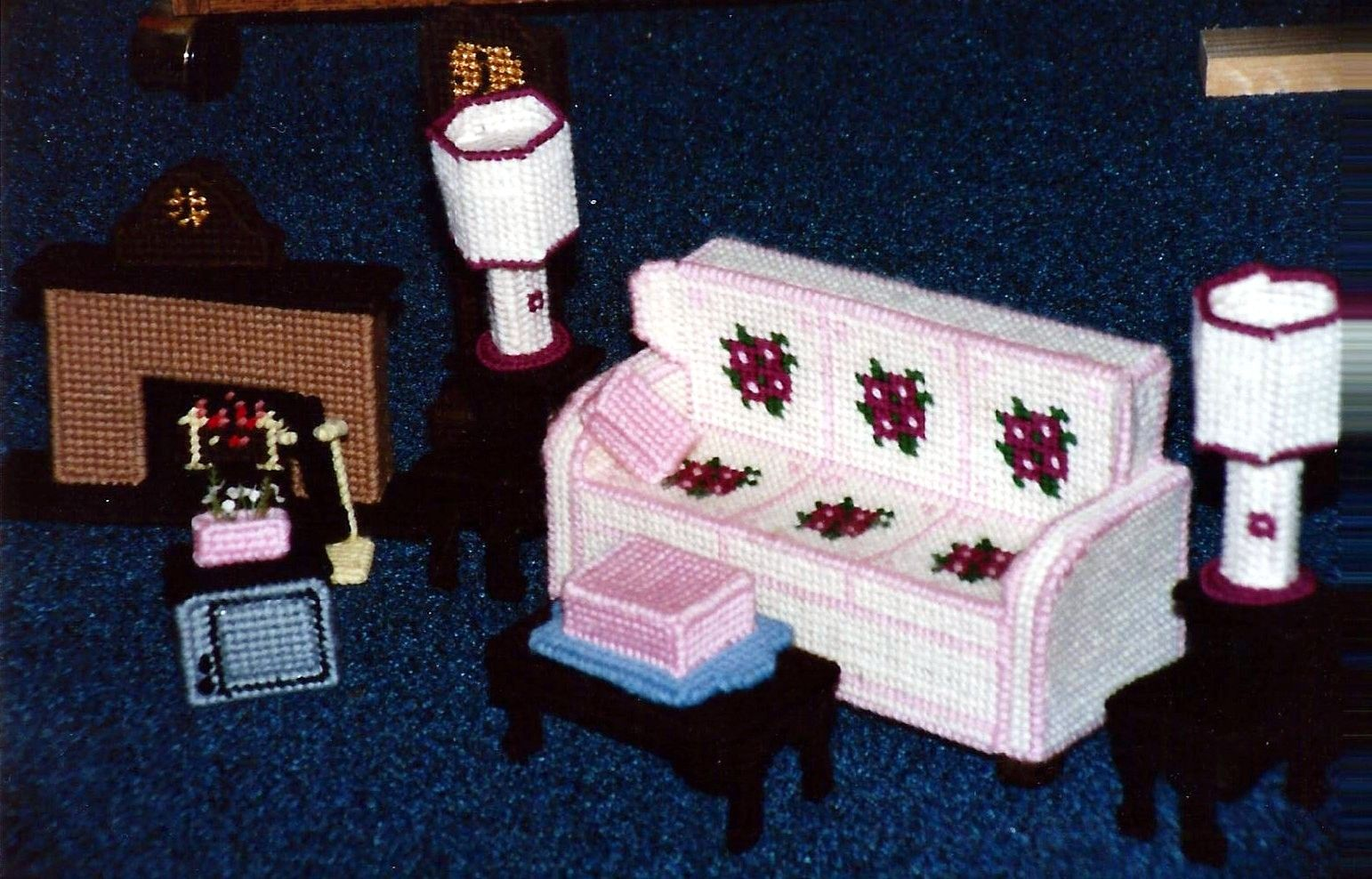 plastic canvas doll house furniture mini pinterest