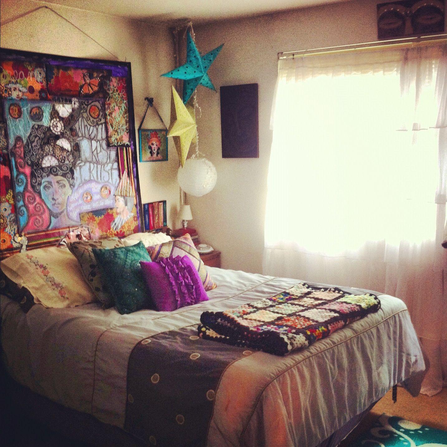 Bohemian bedroom  for the home  Pinterest