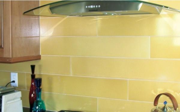 yellow glass tile subway backsplash dining kitchen pinterest