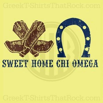 Sweet Home Chi Omega. Buy your sorority bid day, recruitment, and fraternity rush shirts with GreekT-ShirtsThatRock today! (800)