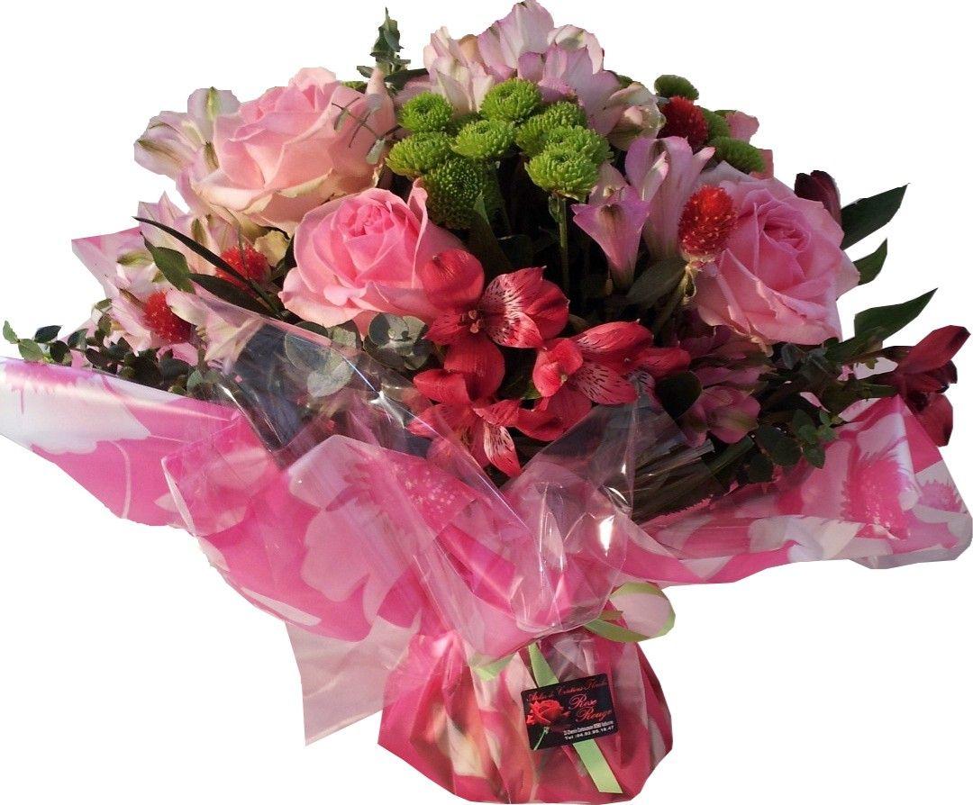 Bouquet bulle rose boutique fleuriste valbonne sophia for Fleuriste rose