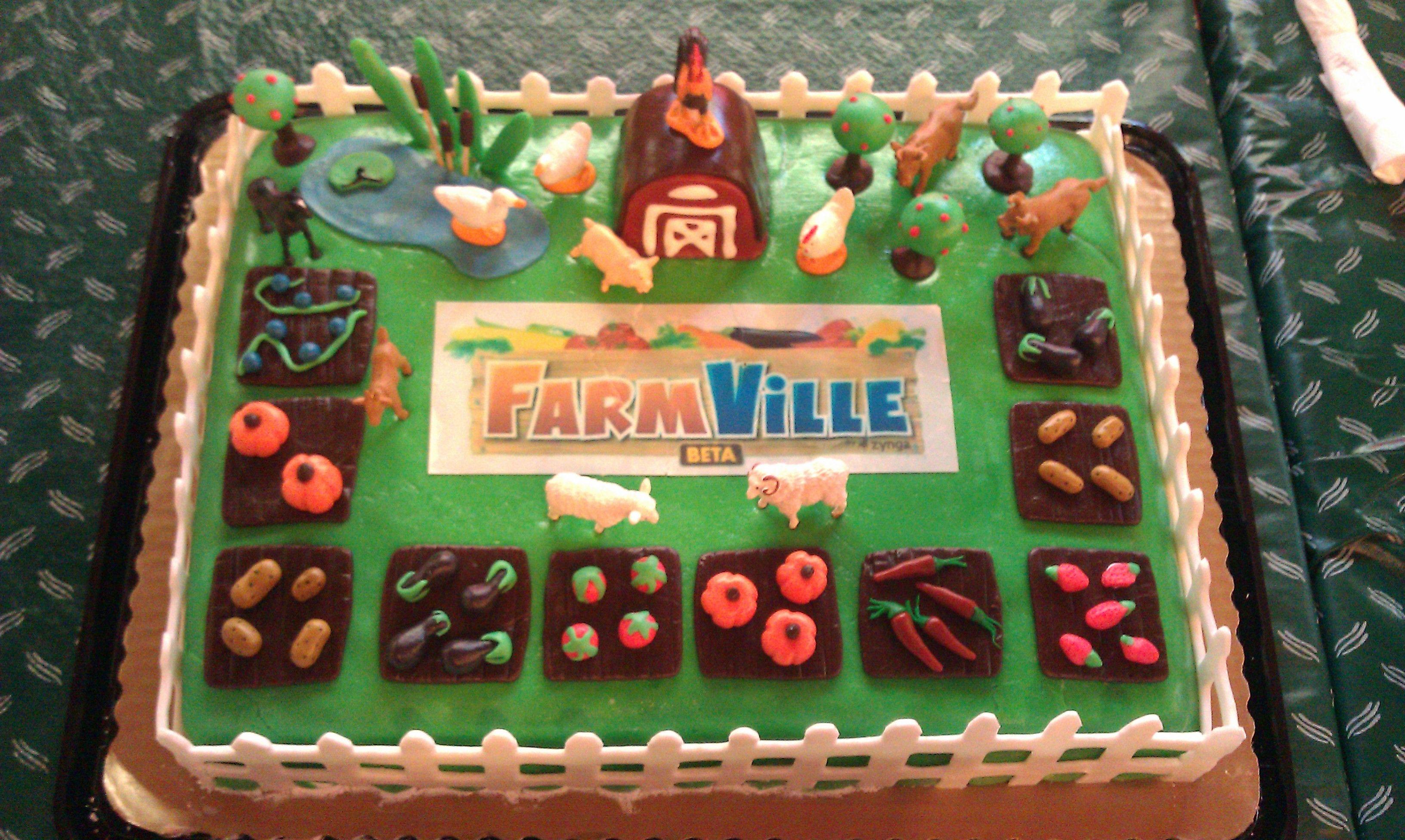 Pin farmville cakepng cake on pinterest for Farmville 2 decorations