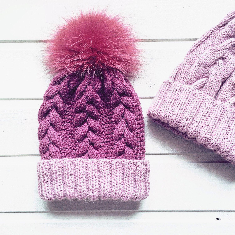 Вязаные зимние шапки Вязание Шапок Спицами и Крючком 100