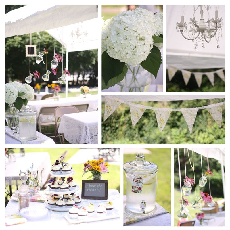 Garden party bridal shower themes outdoor vintage lace tea party bridal shower bridal shower - Garden ideas vintage ...