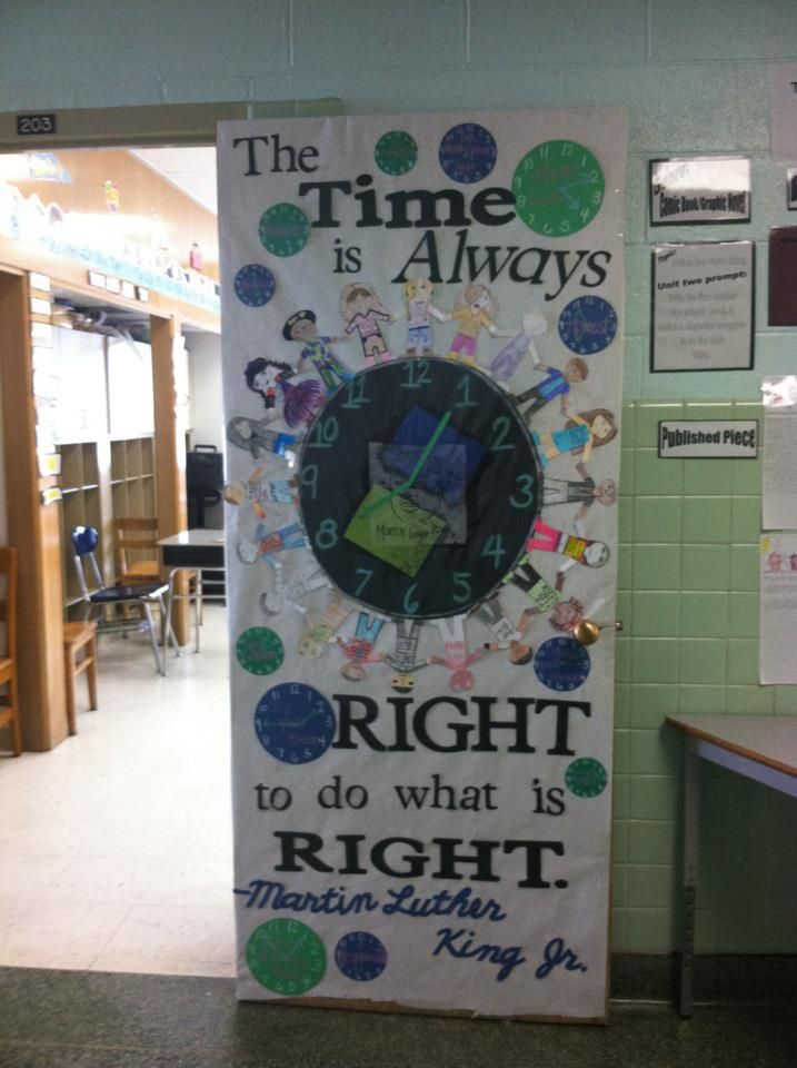 Classroom Door Decoration Ideas For January ~ Images about martin luther king day daycare crafts
