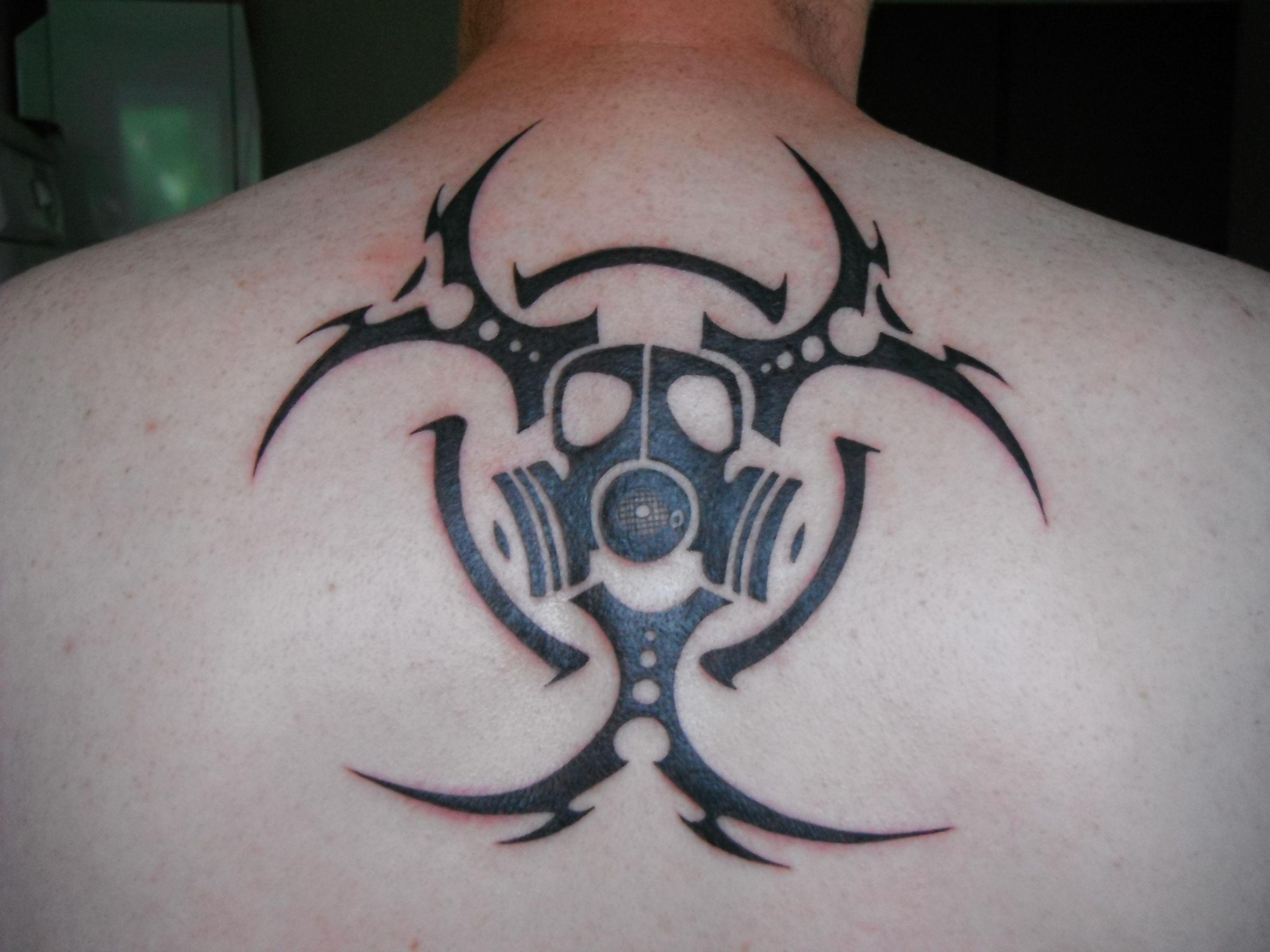 biohazard tribal par damien loison tattoos art pinterest. Black Bedroom Furniture Sets. Home Design Ideas