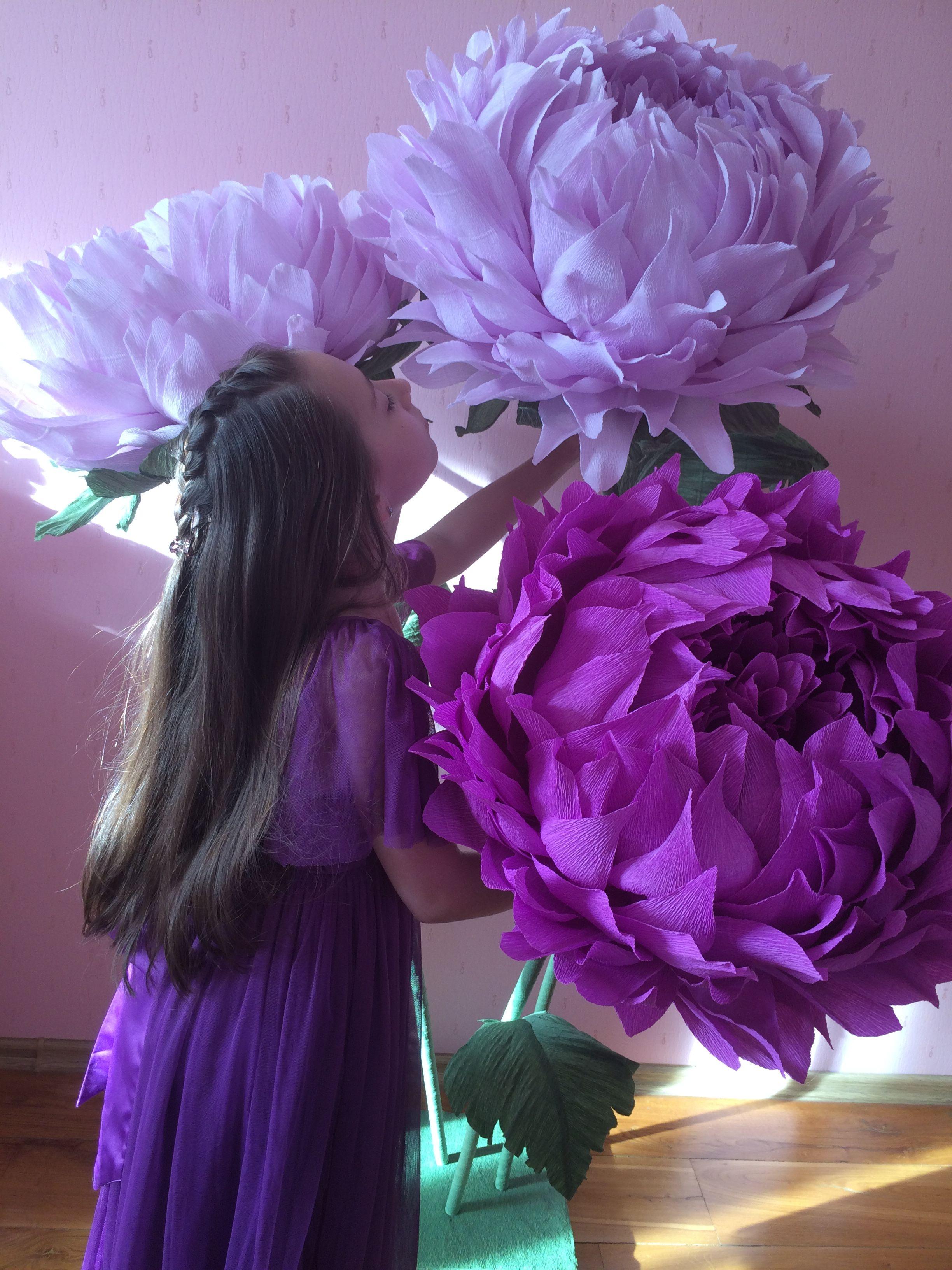 Фото ростовых цветов из бумаги