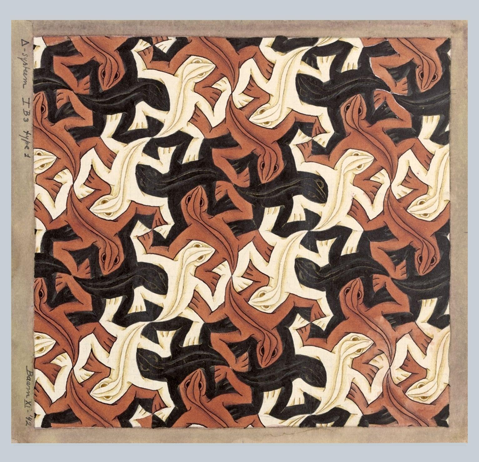 Mc escher floor tiles