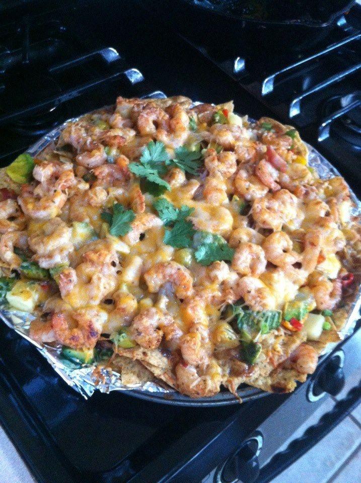 Shrimp Nachos | Bomb Diggity Appetizers | Pinterest