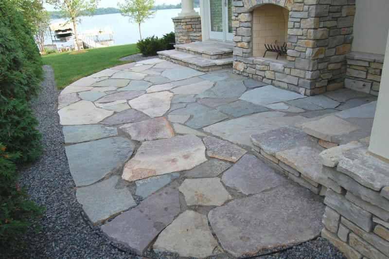 Stone paver patio Home