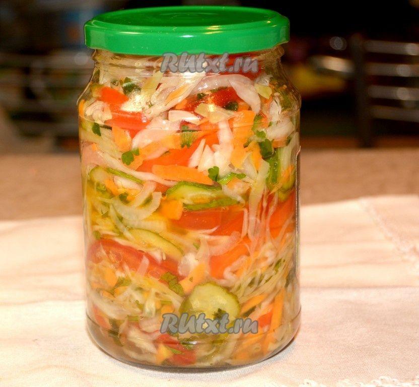 Салаты на зиму из цветной с овощами с