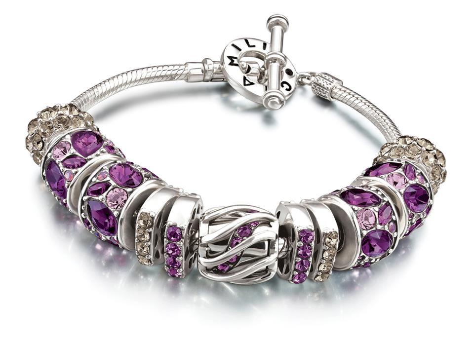 Chamilia silver purple pandora jewelry design ideas pinterest
