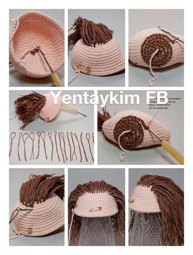 Amigurumi Doll Hair Tutorial : Images about c�mo hacerlo on pinterest amigurumi