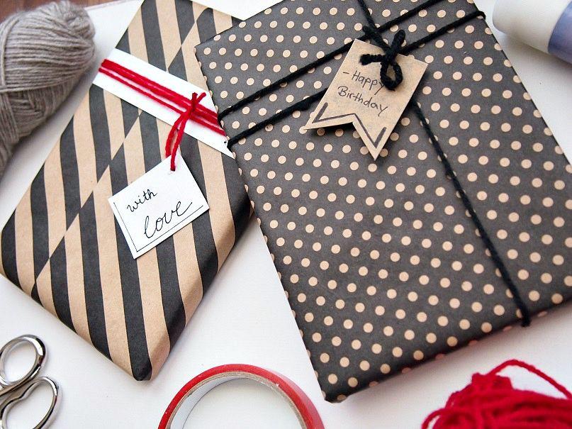 Geburtstagsgeschenk einpacken Idee
