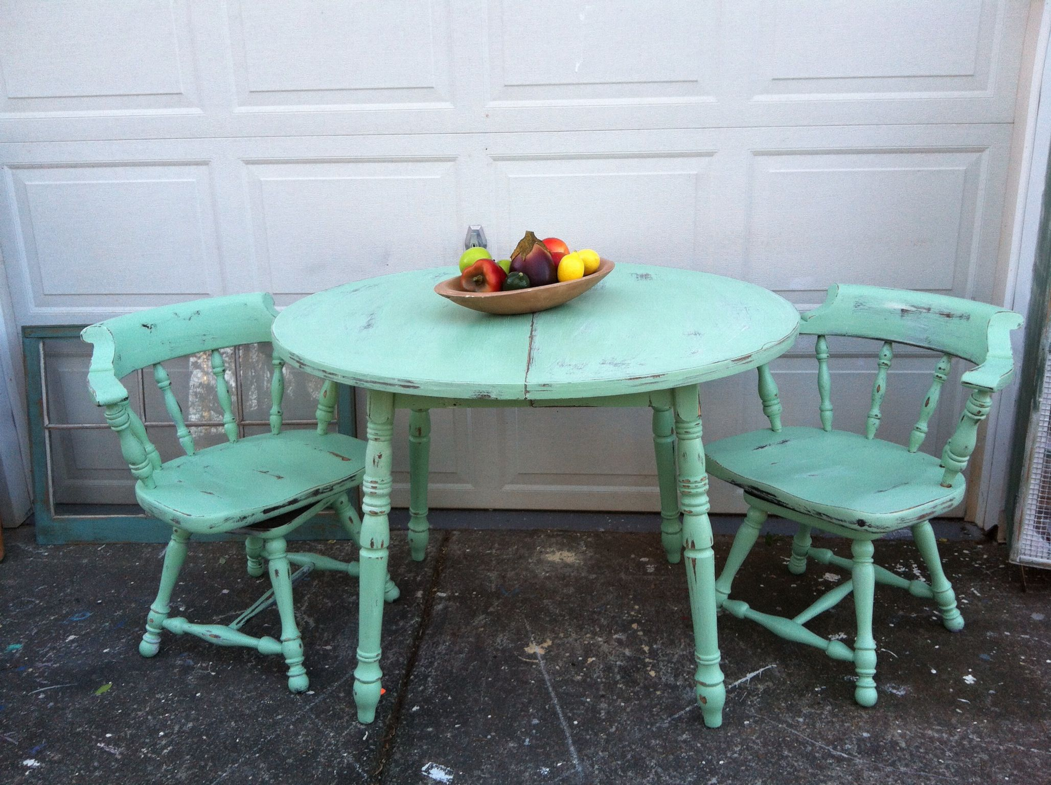 Shabby chic dining table and 2 chairs home sweet home pinterest - Shabby chic dining table sets ...