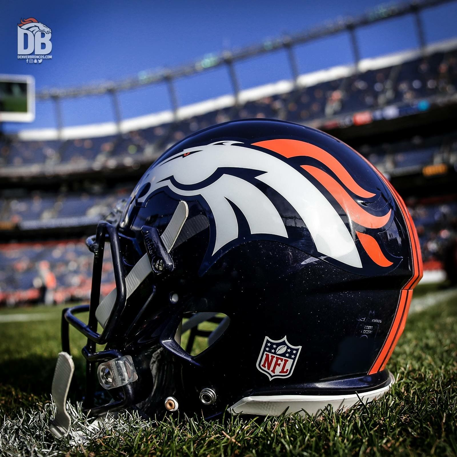 Broncos football helmet