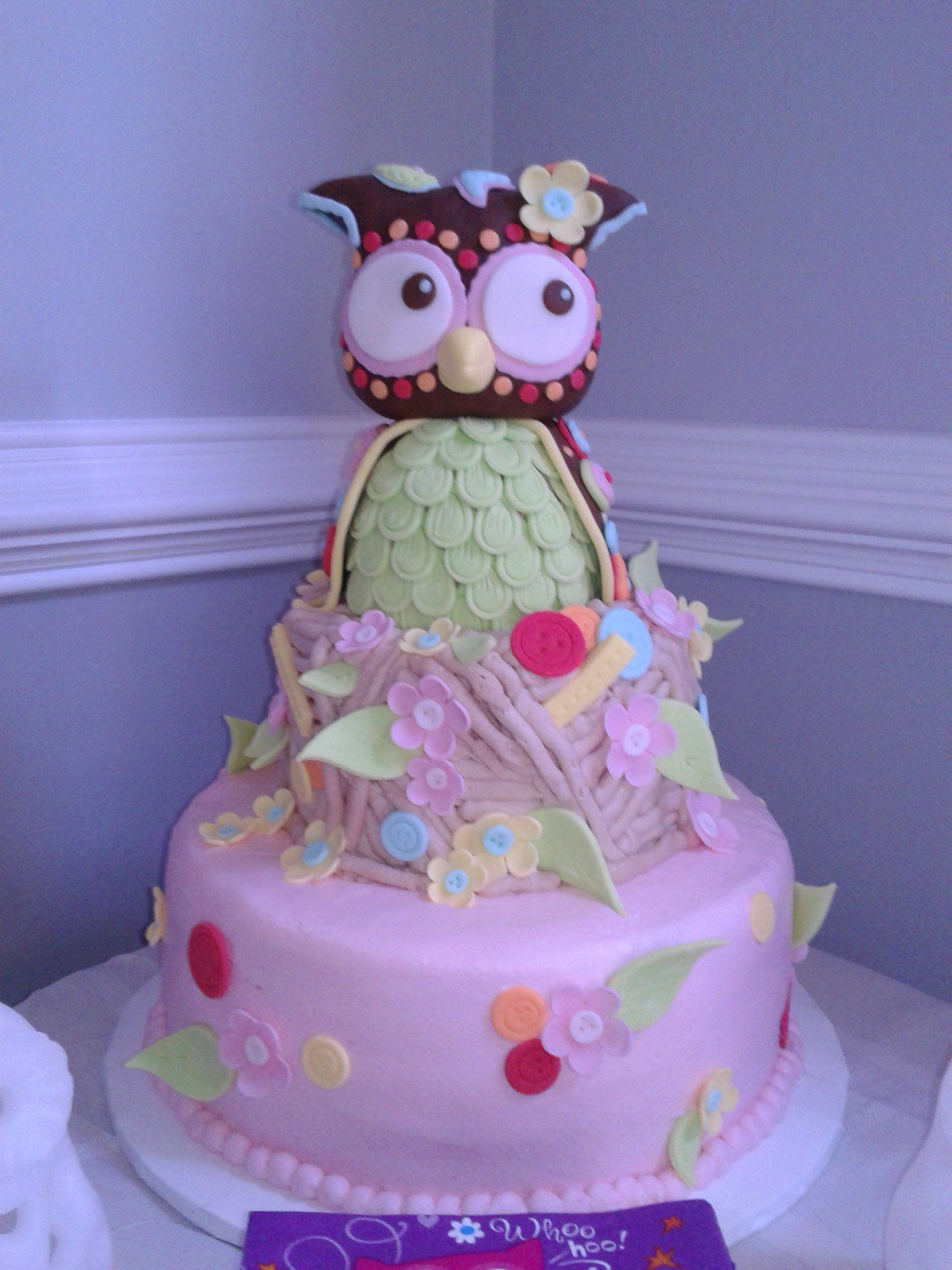 owl baby shower cake baby pinterest
