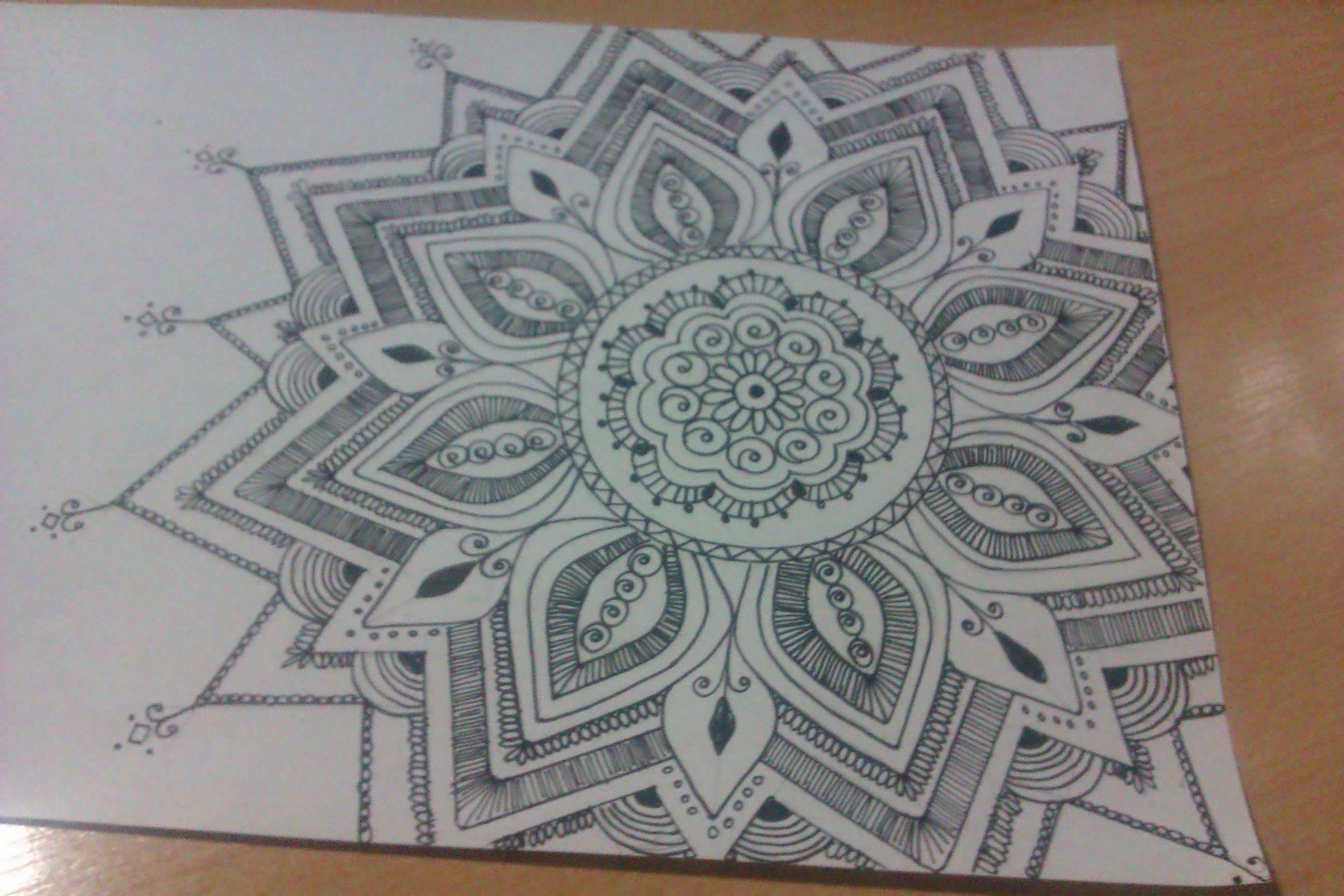 Mehndi Zentangle : Henna inspired drawing doodles zentangle pinterest