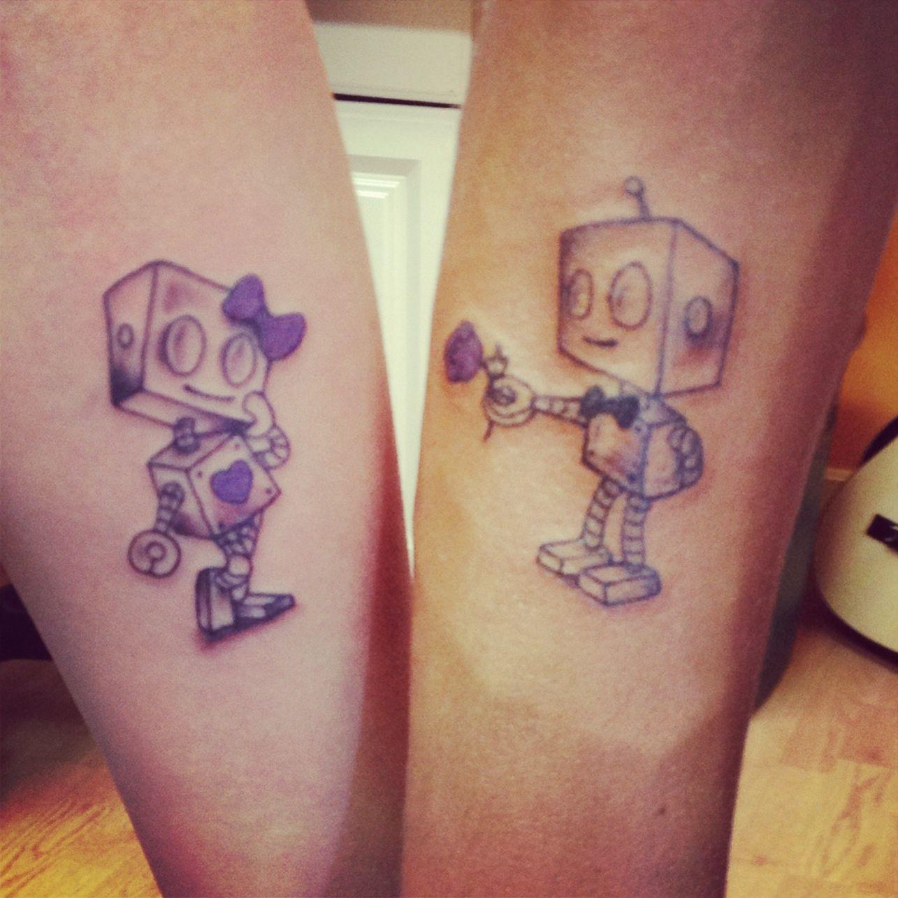 matching robot tattoos