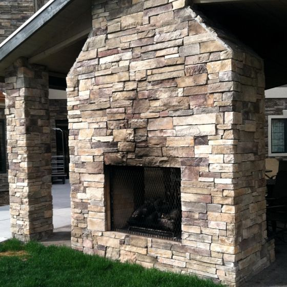 Double Sided Outdoor Fireplace Outdoor Spaces Pinterest