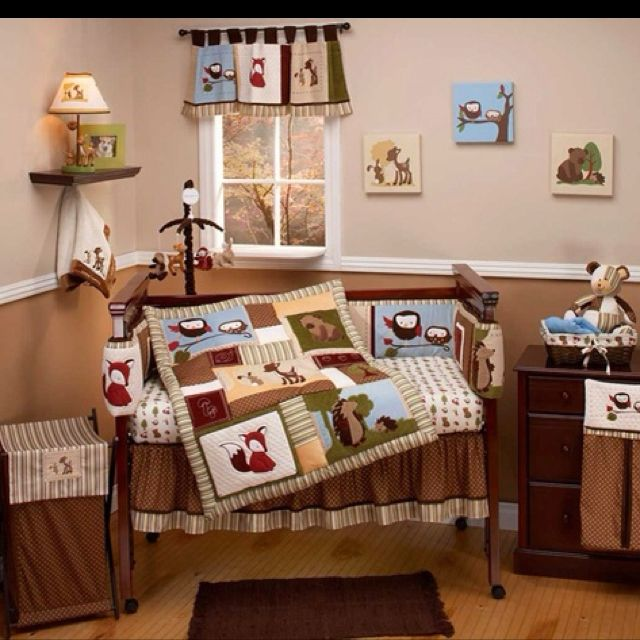 Forest theme for nursery so cute kid 39 s rooms pinterest for Woods themed nursery