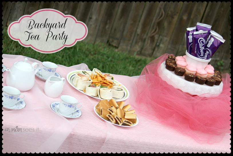 Backyard #TeaParty for kids | birthday party ideas | Pinterest