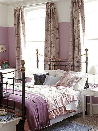 Purple Cream Charcoal Grey Bedroom Aposentos Pinterest