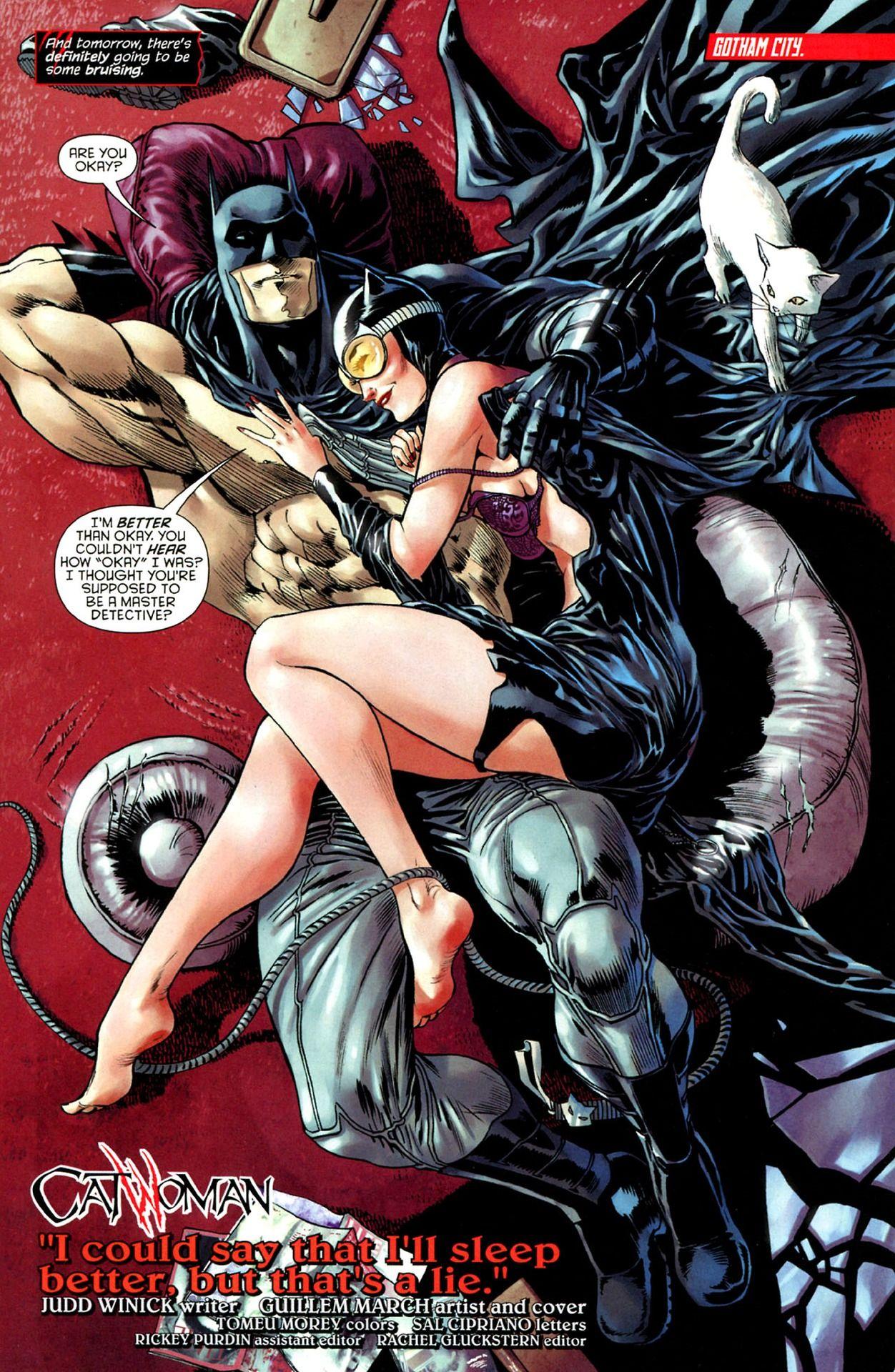 Catwoman and batman romance