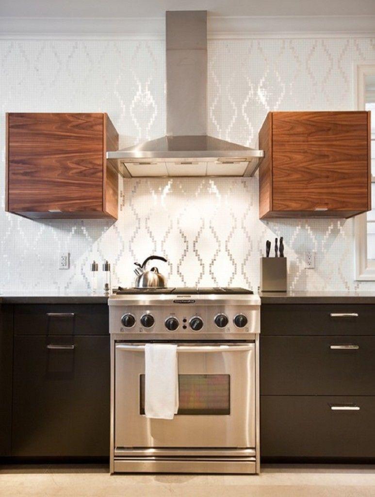 Wallpaper backsplash kitchens pinterest for Kitchen wallpaper
