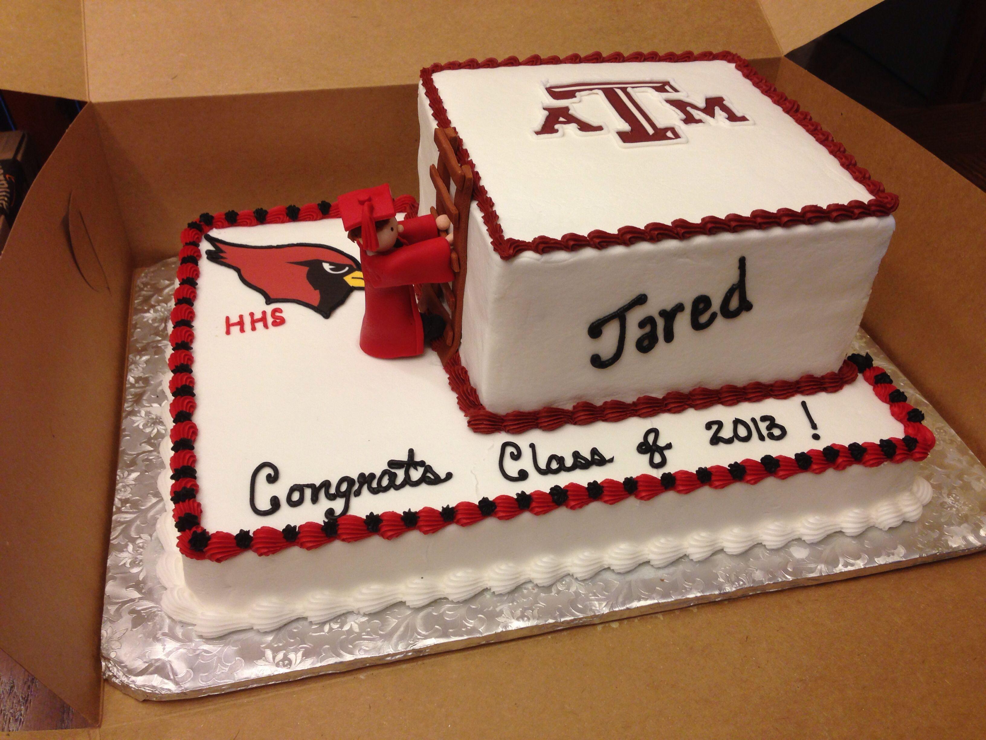 Cake Design For School : High school Graduation cake High School Graduation ...