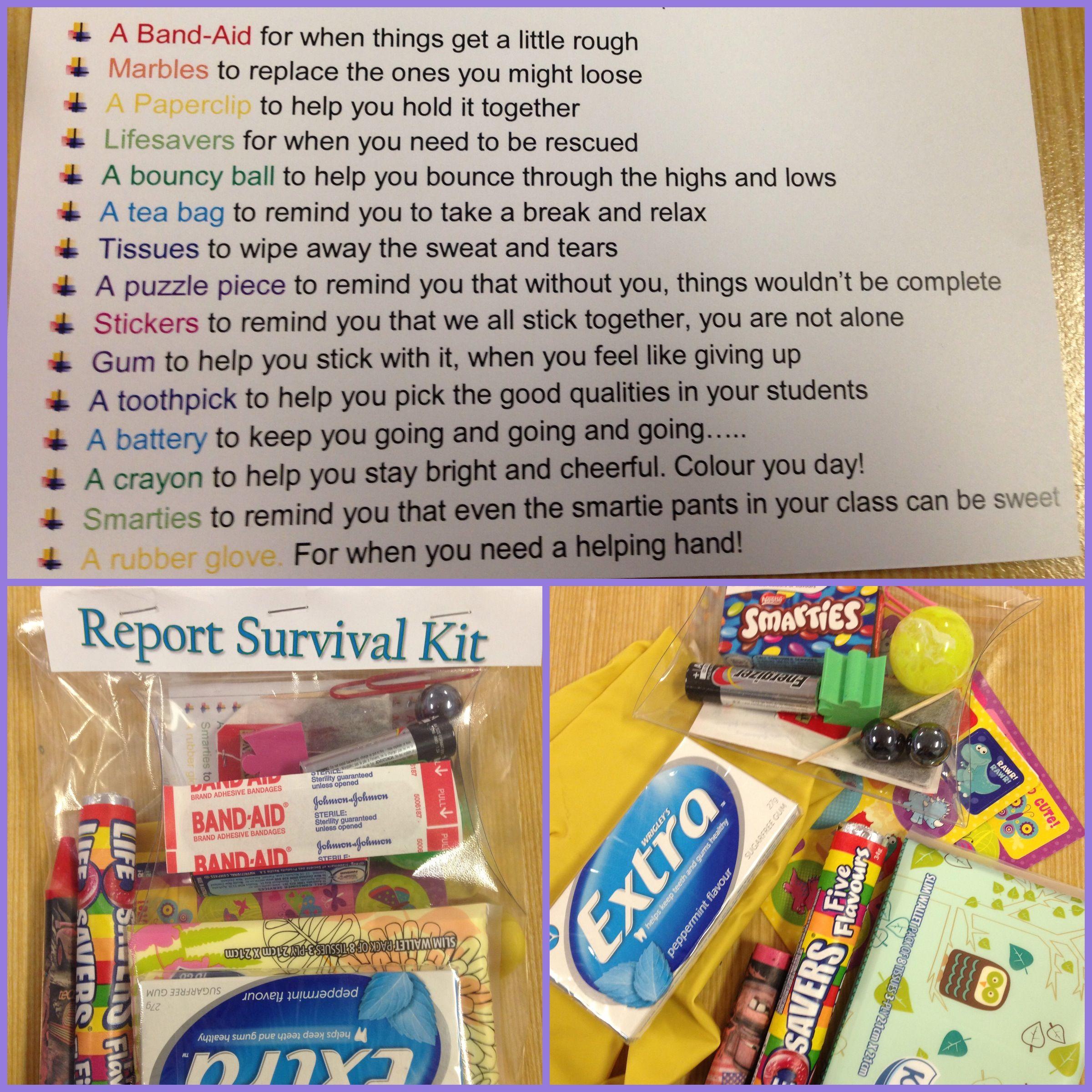 Teacher's report survival kit! | Quotes from the Teacher! | Pinterest