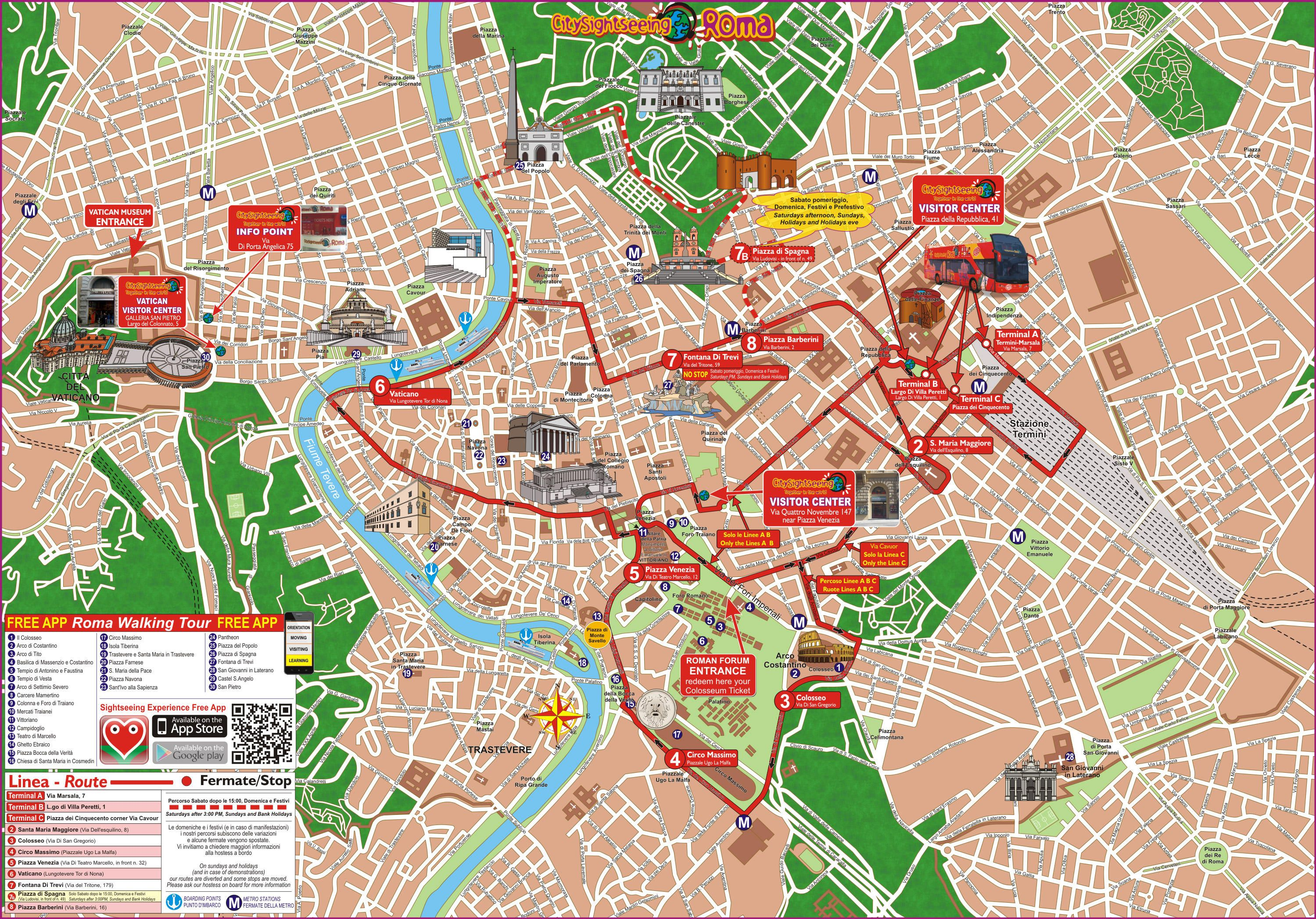 Viator Rome Hop On Off Sightseeing Tour In Italy