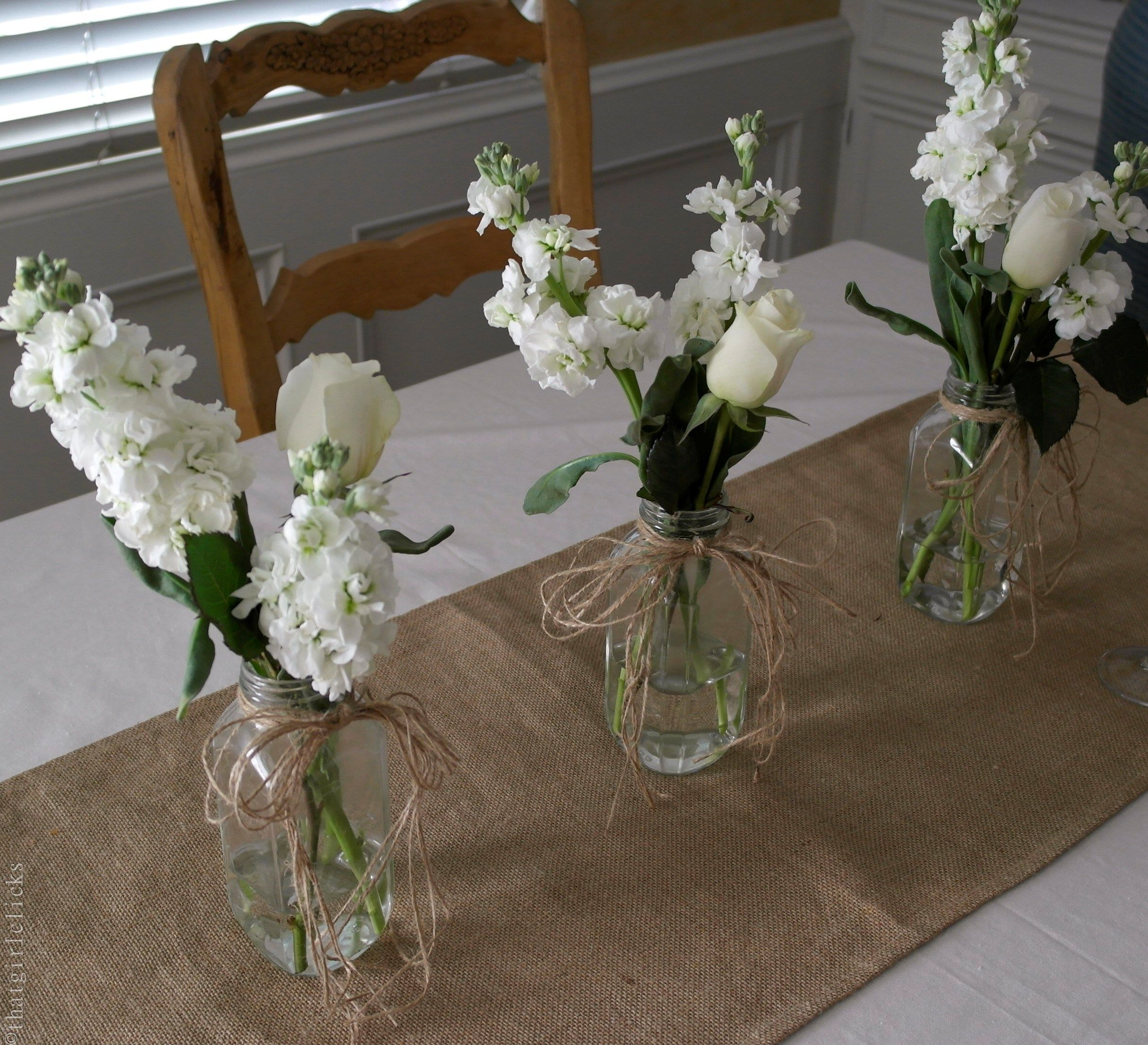 Bridal shower table centerpiece bridal shower pinterest for Bridal table arrangements