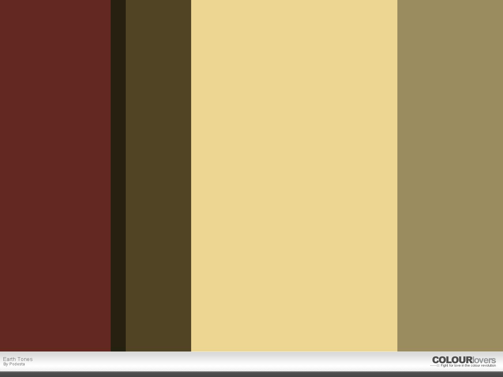 Earth Tones Color Palettes Pinterest